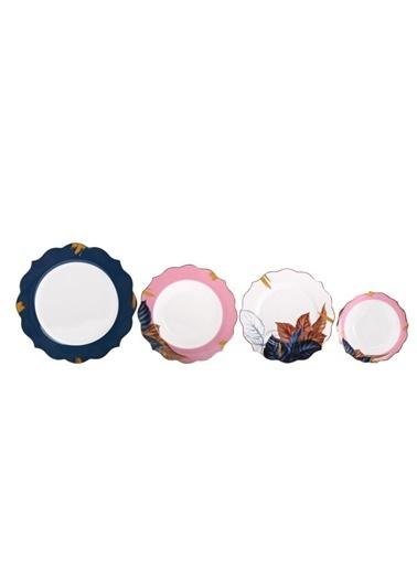 Pink&More Mavi Pembe 6 Kişilik 24 Parça Yemek Takımı Mavi